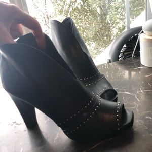 Franco Sarto Open Toe Booties